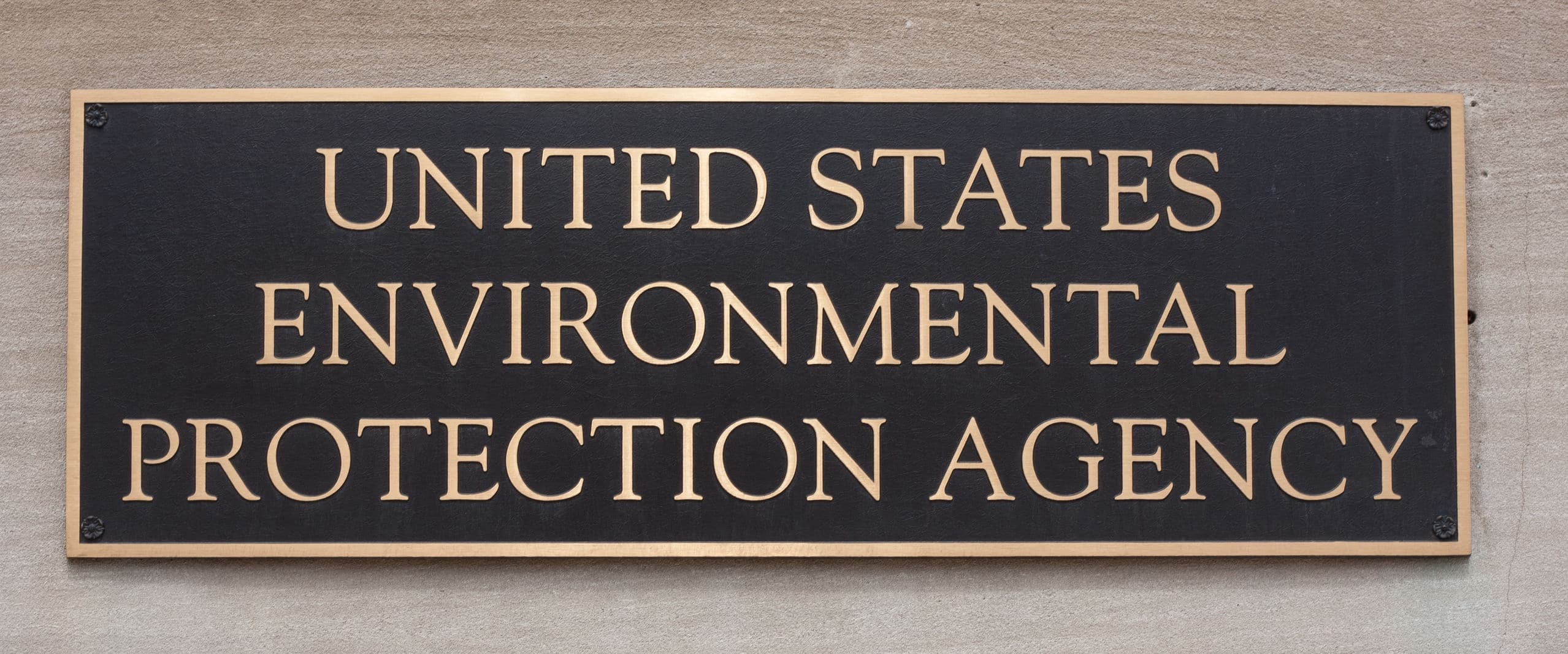 United States Environmental Protection Agency sign
