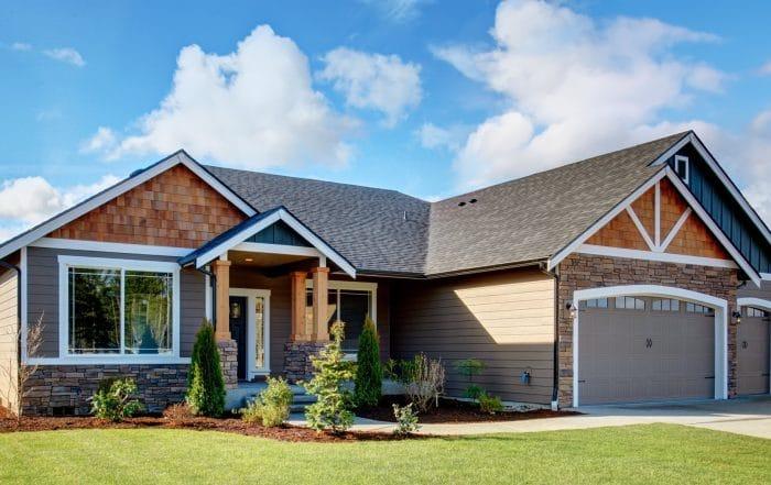 Roof siding home exterior
